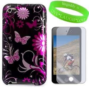 Designer Two Piece Snap Black Purple Pink Butterfly Swirl