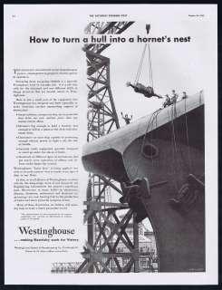 Equipment WWII U.S Navy Aircraft Carrier John Vickery Art Ad
