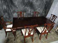 BEAUTIFUL CHERRY SIGNED THOMASVILLE DINING ROOM SET TABLE CHAIRS