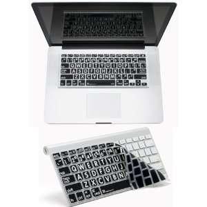 APPLE MAC LARGE PRINT Transparent/black Keyboard Cover