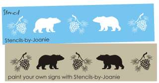 Lg STENCIL Pine Cone Bear Mountain Cabin Outdoor Signs