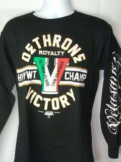 CAIN VELASQUEZ Dethrone Royalty VICTORY Black T shirt