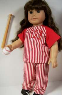 4pc Red Baseball OUTFIT Doll Clothes For AMERICAN GIRL♥