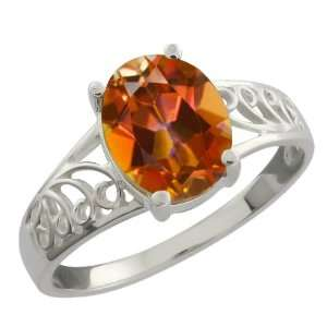 2.30 Ct Oval Ecstasy Mystic Topaz Sterling Silver Ring