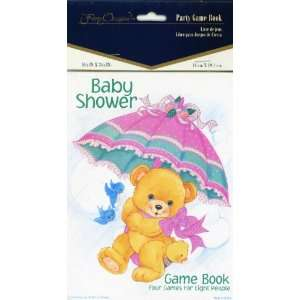 Teddy Bear Baby Shower Party Game Book, 4 Games for 8