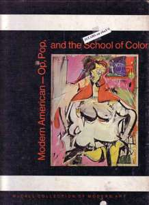 1970 MODERN AMERICAN OP POP AND THE SCHOOL OF COLOR ART BOOK by SAM