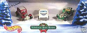 Holiday Gift Pack Hot Wheels (3) Vintage Hot Rods   NIB
