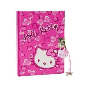 Hello Kitty Diary Pink Hearts