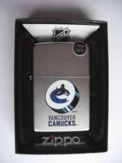 VANCOUVER CANUCKS NHL HOCKEY TEAM LOGO ZIPPO LIGHTER NEW GIFT BOX