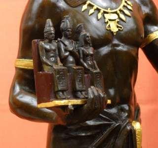Limited Edition #22 Bronze Egyptian Priest Pharaoh Statue Emile