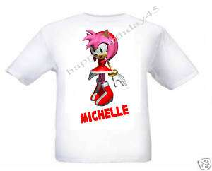 SONIC THE HEDGEHOG AMY ROSE KIDS T SHIRT AGE 2  12