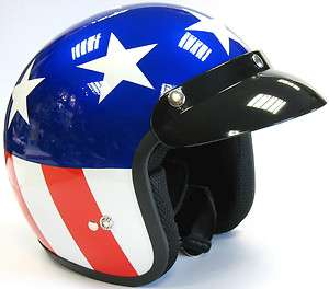 VIPER OPEN FACE SCOOTER MOTORCYCLE MOTORBIKE HELMET MOD EASY RIDER