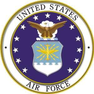 US Air Force Seal Decal Sticker 3.8 6 Pack Everything
