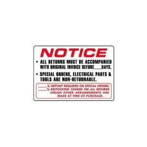 INVOICE BEFORE __DAYS. 14x20 Heavy Duty Plastic Sign