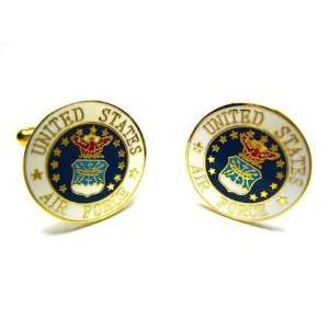 US United States Air Force Enamel Seal Cufflinks Jewelry