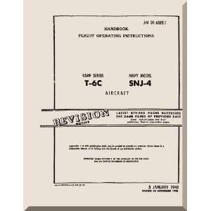 North American Aviation T 6 C SNJ Aircraft Flight Manual