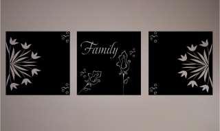 Family Box Art   Vinyl Wall Art Decals Words Lettering