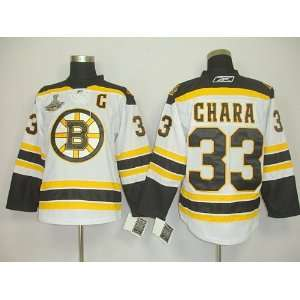 Zdeno Chara #33 NHL Boston Bruins White Hockey Jersey Sz56