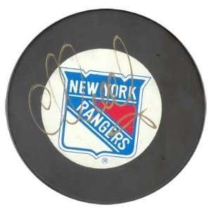 Sergei Nemchinov Autographed New York Rangers Hockey Puck