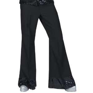 Mens Sequin Black Diamond Disco Pants Halloween Costume