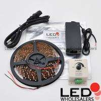 Warm White 300 LED Light Strip Kit 12 V Transformer Dimmer