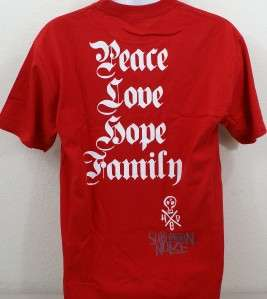 Mens HED PE Peace Love Hope Family Suburban Noize Red T Shirt Medium