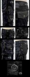 fashion unisex rock visual kei PUNK Kera black camouflage trousers