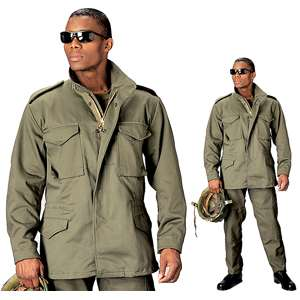 OLIVE DRAB Military Army Style M65 FIELD JACKET w/LINER