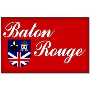 Baton Rouge Louisiana flag car bumper sticker decal 5