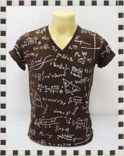 Rock Funky Math Mathematics Brown Art Men T Shirt Size S