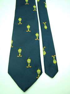 VINTAGE LOONEY TUNES TWEETY BIRD BLUE NECKTIE NECK TIE