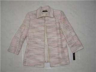 ALEX MARIE Womens Tweed Blazer Jacket Coat Suit 18W 18 Hook Closure