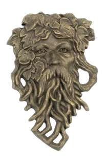 Bearded Leaf Man Garden Face Plaque Wall Decor Lawn & Gardens Yard Art