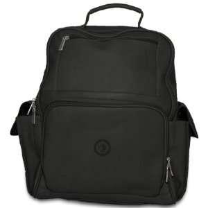 NHL Black Leather Large Computer Backpack Sports