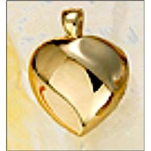 Solid Gold (14K) Heart Cremation Pendant