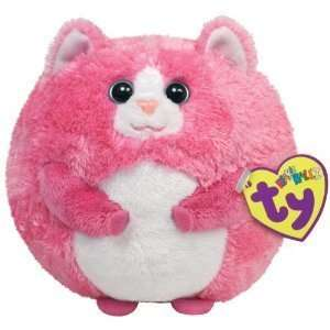 TY Tumbles Pink Cat Beanie Ballz Balls Toy Plush Animal