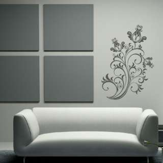 LOVELY TULIP FLOWER FLORAL WALL ART STICKER DECAL kids vinyl stencil