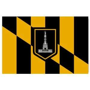 Baltimore Maryland City Flag car bumper sticker window decal 5 x 3