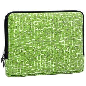 10 inch Green Bamboo Weave Polyurethane Laptop Netbook Tablet