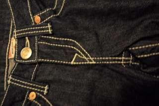 True religion brand new woman jean capri Sophi low waist size 26 dark