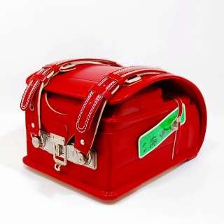 Japanese school backpack RANDOSERU red cowhide leather titanium lock