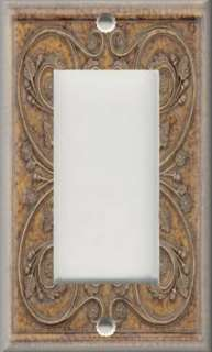 Light Switch Plate Cover   Wall Decor   French Pattern  Tan