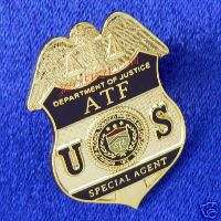 NEW STYLE DOJ ATF / E Special Agent Mini Badge Pin