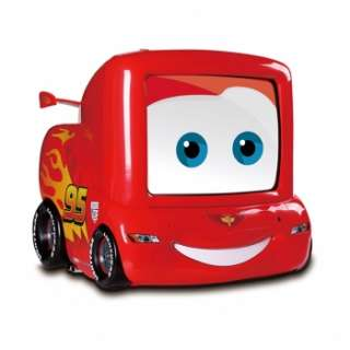 DISNEY CARS 2 13 TV TELEVISION w/ REMOTE for KIDS CHILDREN CHILD NEW