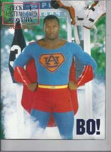 BO JACKSON FOOTBALL BECKETT AUBURN UNIVERSITY COVER SUPERMAN