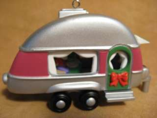Christmas Ornament Mr & Mrs Clause in Rv Camper Trailer Home