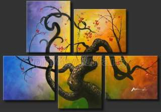 Framed Large Art Landscape Tree Oil Painting Decorative Ready To Hang