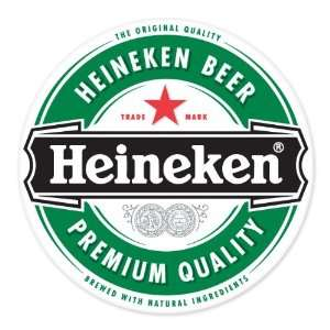 Heineken Beer logo vinyl sign sticker decal 4 x 4