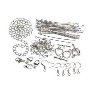Cousin Jewelry Basics Starter Pack 145/Pkg Silver; 3 Items