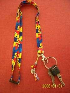 AWESOME AUTISM AWARENESS LANYARD FREE CHARM